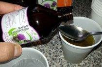 Все полезные свойства масла расторопши–наглядно, в таблицах